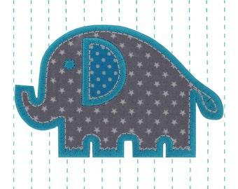 Elephant Iron on Applique Patch - Kids