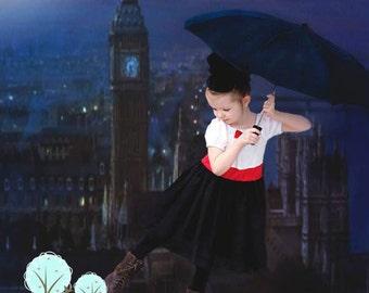 Mary Poppins Costume Mary Poppins Dress, Childern Sizes, School Play, School Play, Dress-up, Photo Shoot, Birthday Party, Disney