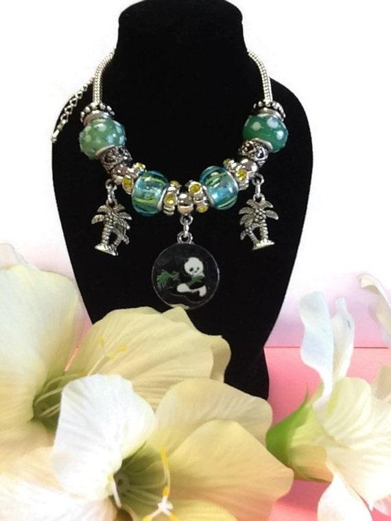 charm bracelet add a bead panda charm bracelet