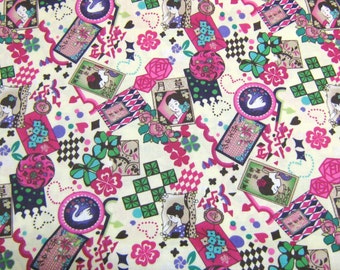 Geisha Japanese Cotton Fabric, Kawaii Fabric, Cotton fabric By The Yard