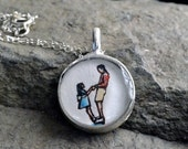 father daughter personalized sterling silver chain first father daughter dance hand painted personalized