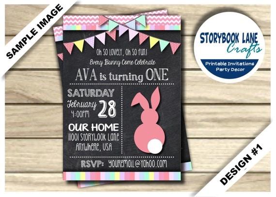 Bunny birthday invitation some bunny invitation 1st birthday il570xn filmwisefo Choice Image
