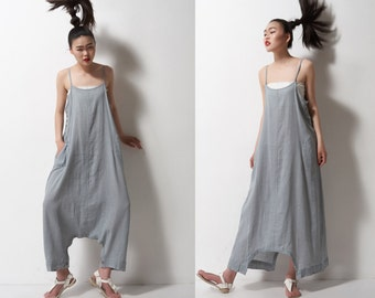 grey linen maxi dress pants---a pants a dress black grey linen dress