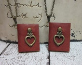 Matching Miniature Book Necklaces