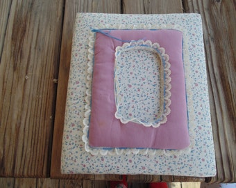 Vintage Pink and Cream Padded Scrapbook Cover