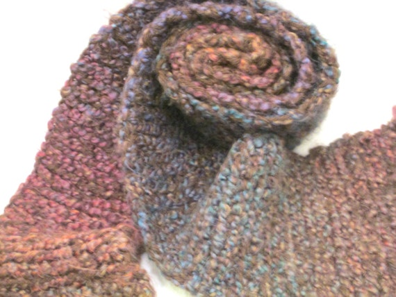Multi Colored Scarf Knitting Pattern : Hand Knitted Multi Colored Scarf