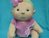 "Listing #1 for Maricei. Fretta's BeBe Cheeks Doll. Jointed 40.5 cm /16"" Soft Sculpture Girl. Child Friendly Doll."