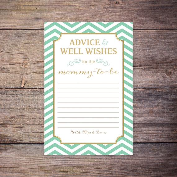 gold green gender neutral baby well wishes advice shower game