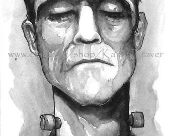 """Frankenstein - Art Print 6""""x12"""""""