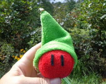 Elf Dango plushie toy 2' & Elf hat with bell