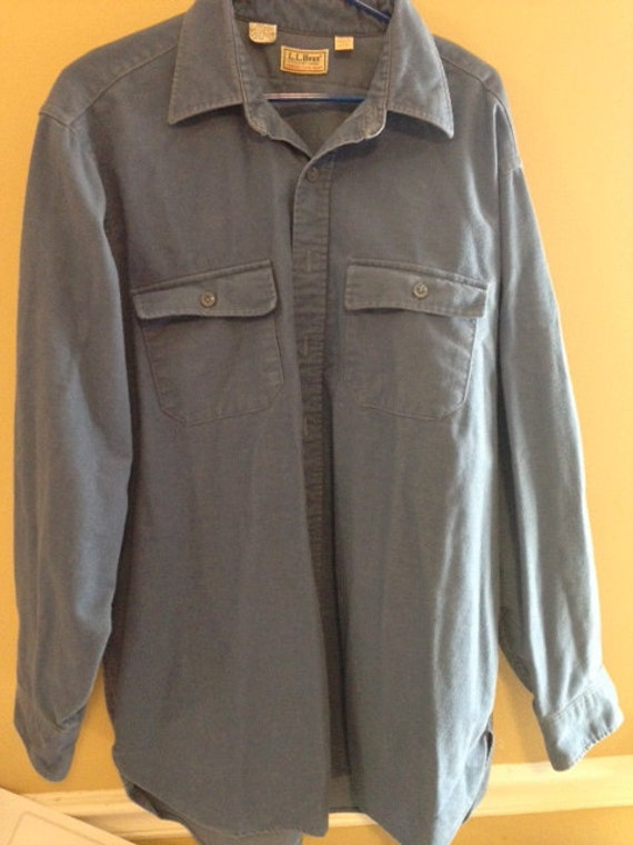l l bean mens shirt size tall 18 blue. Black Bedroom Furniture Sets. Home Design Ideas
