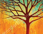 Colorful Wall Art Tree Print by Jennifer Barrineau titled Magic Tree