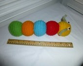 Soft Hand Knit Caterpillar - Doll - Toy - Baby Gift - Easter