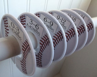 6 Baby Closet Dividers Boy Baseball Dividers Sports Clothes Dividers Closet Organizers Baby Shower Gift Baby Nursery