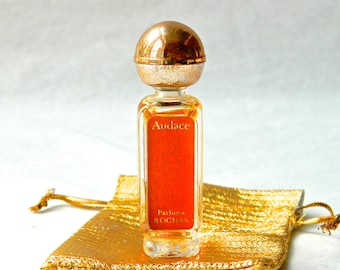 Vintage AUDACE Rochas Pure Perfume Mini 3.5 ml (.13 oz) Rare and Spectacular 1970s Valentines Day