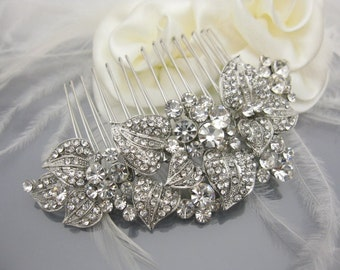 Wedding accessories Bridal hair comb Wedding headpiece 1920's bridal hair jewelry Wedding hair accessories Bridal headpiece Wedding