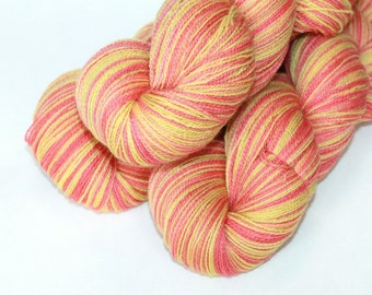 Sale | Hand Dyed / Painted Yarn | Merino | Tequila Sunrise | 100g