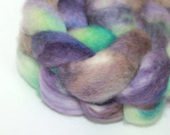 Hand Painted Top / Roving | BFL | Amethyst | 100g