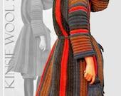 Vintage 70's Crochet COAT PDF Pattern - Instant Download