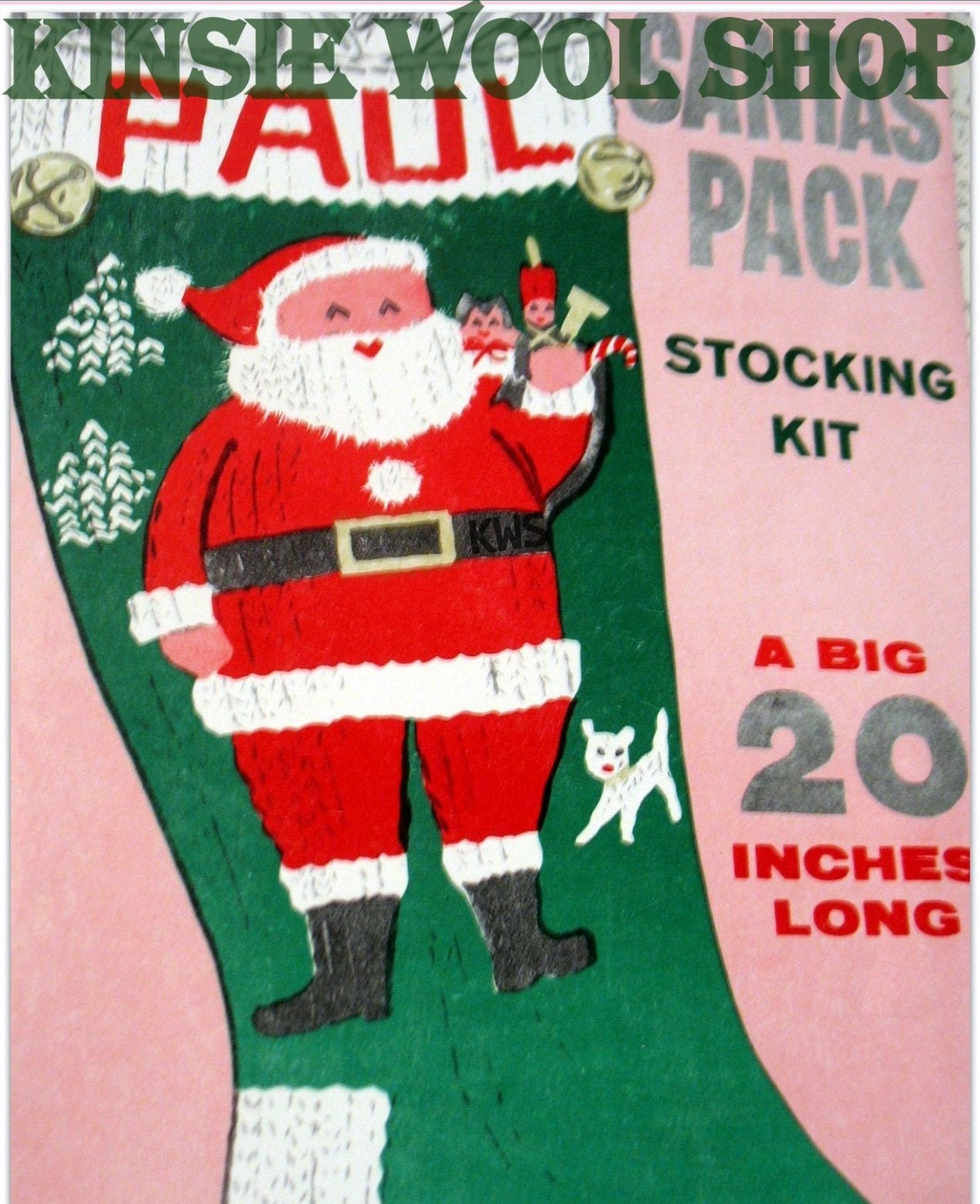 Vintage Christmas Stocking Knitting Pattern : Kitchen & Dining