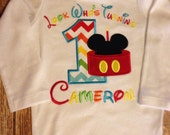 Boys first birthday mickey mouse clubhouse custom bodysuit or shirt