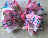 Sheriff Callie Inspired Boutique Bow - Boutique Hairbow - Sheriff Callie Birthday Bow - Girl - Toddler - Infant