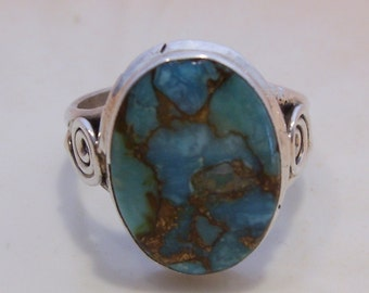 Sterling and Turquoise Ring Size 7 3/4