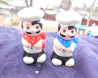 Two Mr Cook Salt and Pepper Shakers Just Darling