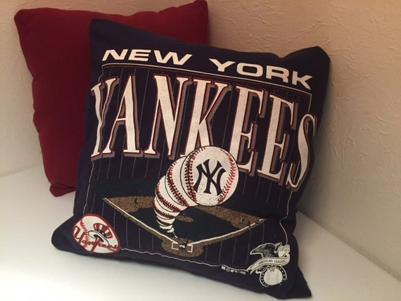 Man Cave Pillow With Cup Holder : New york yankees pillow decor baseball man cave by