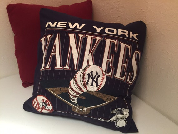 Yankees Man Cave Decor : New york yankees pillow decor baseball man cave by