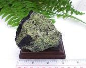 Natural Rough Peridot Olivine Volcanic Bomb Mineral Specimen In Matrix 275 grams
