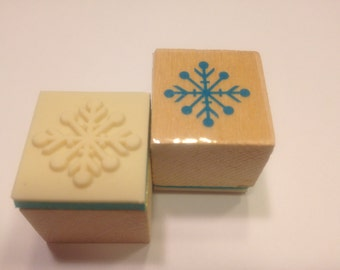 small snowflake rubber stamp, 20 mm (BB4/2)