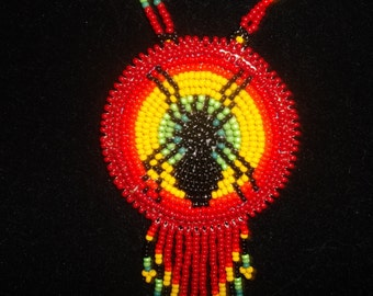 spider necklace, native american,