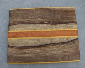 Myrtlewood Yellowheart Tigerwood Cutting Board