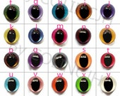 Safety Crochet Doll Eyes Samples Stuffed Plastic Colorful Cat Eyes With Washers7.5mm/9mm/10.5mm/12mm/15mm/18mm--10pairs(20pcs)