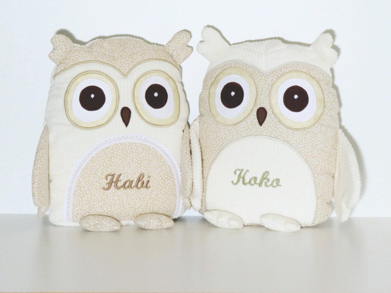 Stuffed Animal Stuffed Owl Toy Personalized Owl Pillow Case