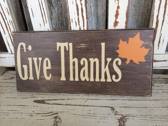 Give Thanks Sign (5.5in x 24in) - Home Decor - Perfect Gift