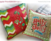 Holly Jolly Christmas Pillow Cover Set