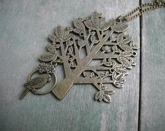 Positive Mood Tree Necklace/Pendant Necklace/Statement/Hippie/Boho