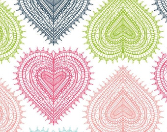 Camelot Cottons fabric HEARTS