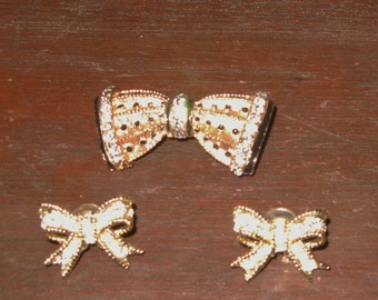 Swarovski Rhinestone Brooch/Earrings set