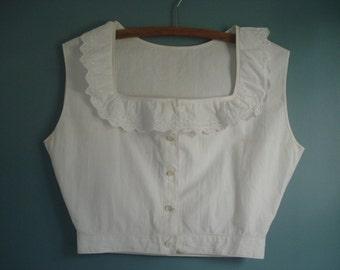 FOUND IN SPAIN -- Bright white cotton camisole - Edwardian era