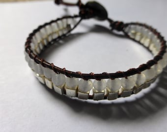 White Quartz and Silver Bracelet