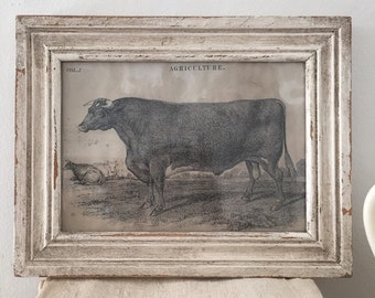 Vintage Style Cow Print