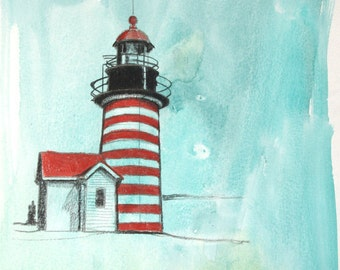 West Quoddy Head Light-- Red and White Striped Light