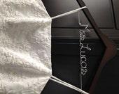 Bride Hanger, Wedding Dress Hanger, Bridal Shower Gift, Bridesmaid Gift, Bridal Hanger, Name Hanger, Personalized Hanger, Wedding Hangers