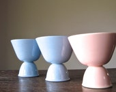 LuRay Pastels Egg Cups, Dessert Dishes, Lu Ray Pastels, Vintage China, Vintage Lu Ray Pastels, LuRay Pastels, Taylor Smith & Taylor Co., TST