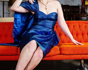 Lorelei Sarong Dress - 1950s vintage style custom handmade reproduction