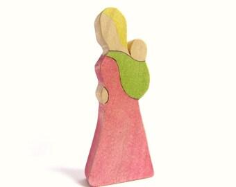 Custom Babywearing Mama -  Wooden Babywearing Figure - Ready to Ship / Custom