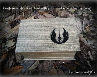 music box, custom made music box, musical jewelry box, birthday gift, musicbox, star wars, star wars gift, star wars logo, jewelry box
